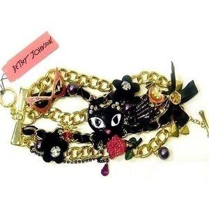 Betsey Johnson Charm Toggle Bracelet Vicky Cat
